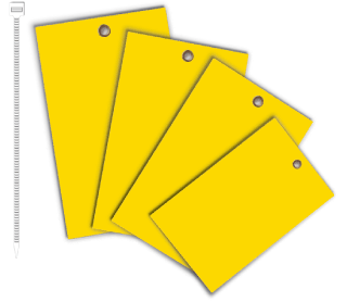 Yellow Write-On Vinyl Tag