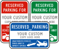 X1243 Reserved Vertical Parking Signs