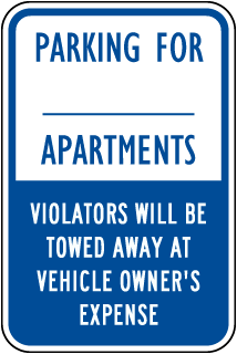 Custom Violators Will Be Towed Away Sign