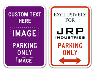Parking Only Sign with Custom Text and Image