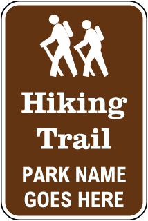 Custom Recreation Sign with Brown Background