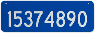 Blue Horizontal House Number Sign