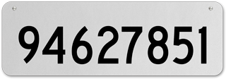 White Horizontal House Number Sign