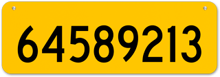 Yellow Horizontal House Number Sign