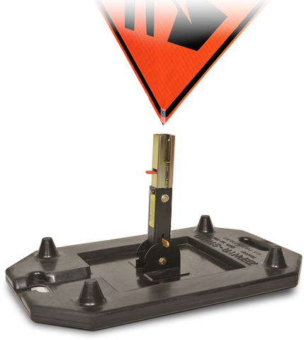 Zephyr Roll-Up Road Construction Sign Stand