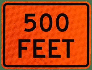 500 Feet Sign