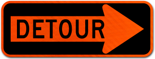 Detour Right Arrow Sign