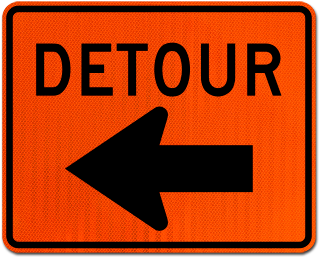 Detour Sign (Left Arrow)