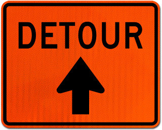 Detour Sign (Up Arrow)