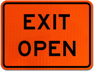 Exit Open Sign