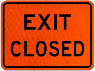 Exit Closed Sign