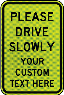 Custom Pedestrian Crossing Sign