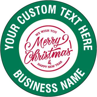 Custom Holiday Floor Sign