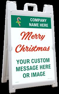 Custom Sandwich Board Sign / A-Frame Sidewalk Sign