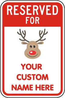 Personalized Novelty Reserved Parking Sign