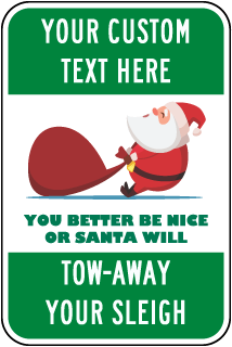 Personalized Novelty Parking Sign with Colored Background