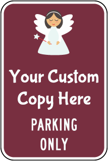 Custom Reserved Parking Sign with Colored Background