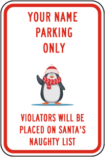 Custom Reserved Parking Sign with Colored Border
