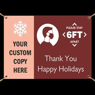 Custom Holiday Banner
