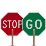 Stop / Go Paddle with Wood handle