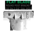 Round Post Flat Blade Street Name Sign Bracket