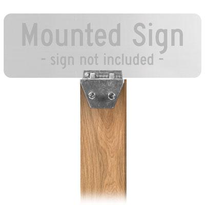 4x4 Wood Post Sign Bracket