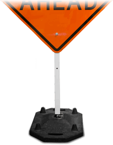 40lb. Rubber Phoenix Sign Base with 6' Post