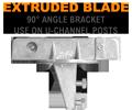 U-Channel Post Extruded Blade Street Name Sign Bracket