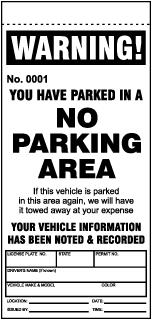 Parking Violation Tickets, Blank Parking Tickets