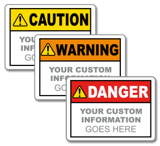 Custom Text ANSI / ISO Safety Label