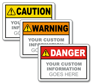 Custom ANSI Safety Headers with Text Only