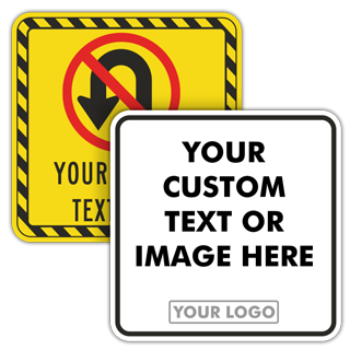 Custom Blank Square Traffic Signs