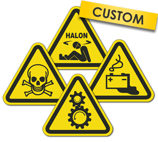 Custom ISO Symbol Warning Label