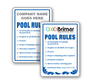 Custom Pool Rules Sign