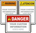 Custom ANSI Sign