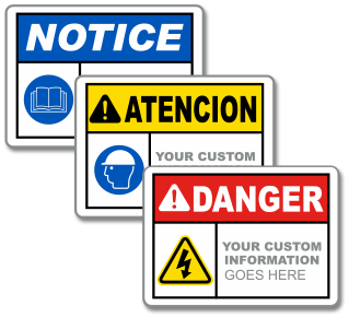 Custom ANSI Safety Headers with Stock or Custom Image