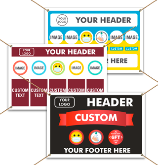 Custom Banners - Three to Six Featured Points