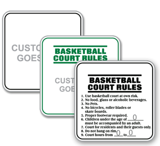 Custom Rules Sign