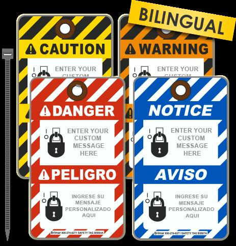 Custom Blank Bilingual ANSI Z535 Tag (25/Pkg)