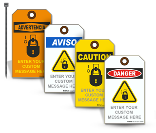Custom Blank OSHA Safety Tag with Text and Image (25/Pkg)