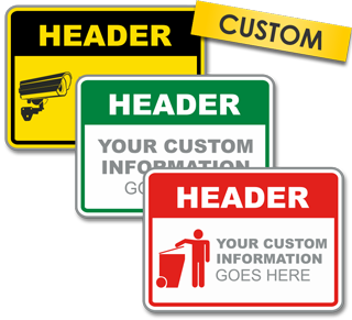 Custom Horizontal Blank Header Label