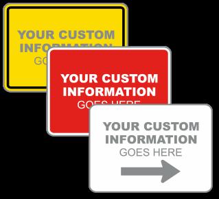 Custom Horizontal Blank Label
