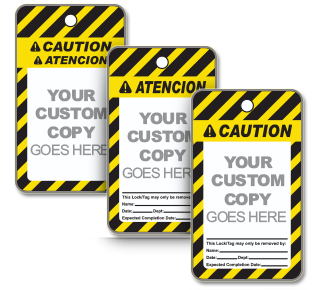 Custom ANSI Caution Tag