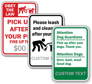 Custom Clean Up After Dog Sign