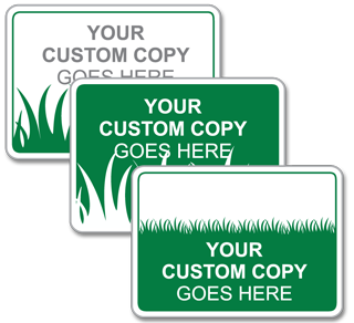 Custom Grass Background Sign