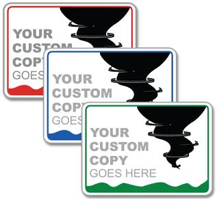Custom Tornado Sign