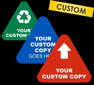 Custom Blank Triangle Label