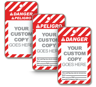 Custom ANSI Danger Tag