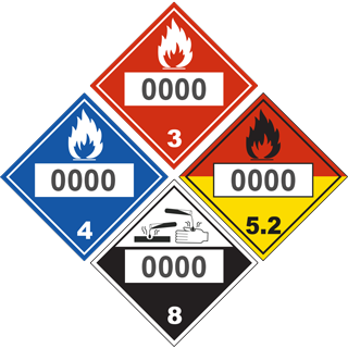Custom DOT Hazmat Placard
