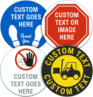 Custom Social Distancing Floor Signs